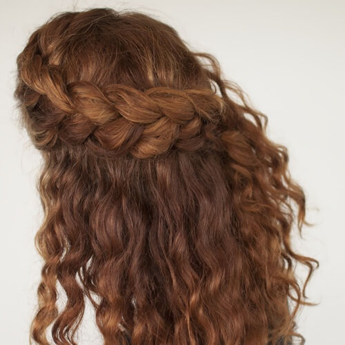 Crown Braid with Curls