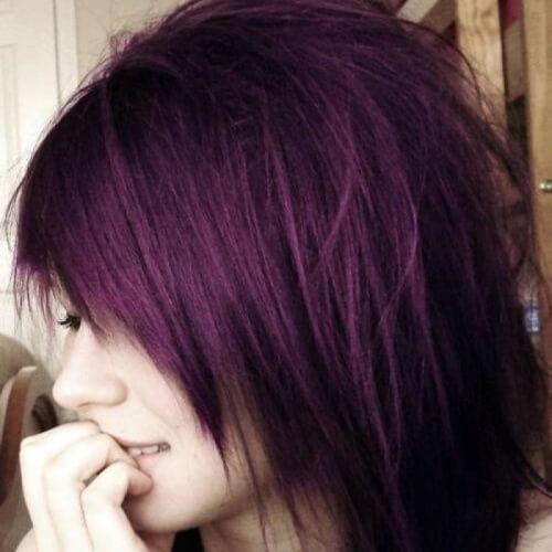 Emo Plum Hair