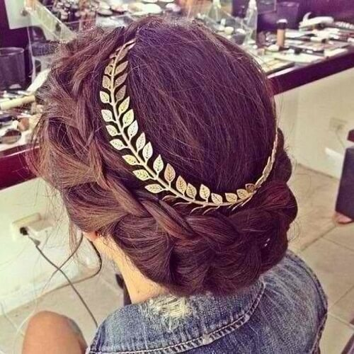Greek Goddess Crown Braid