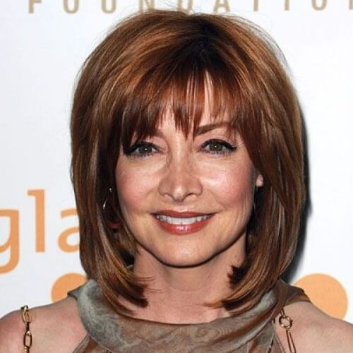 Hairstyles for Women over 40 with Bangs