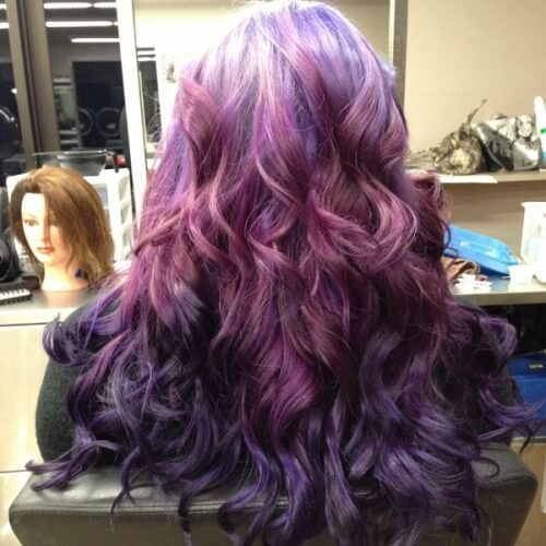 Light to Dark Purple Hair