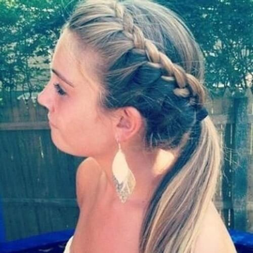 Low Ponytail with Braid