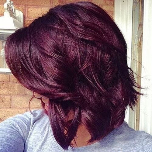 Medium Plum Hair Color