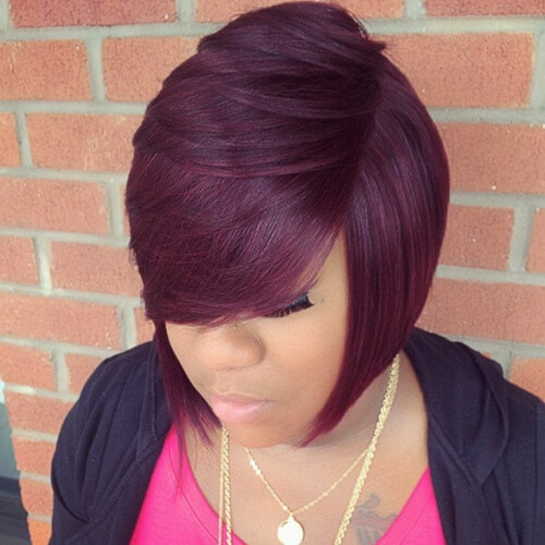 Plum Hair Color Weave