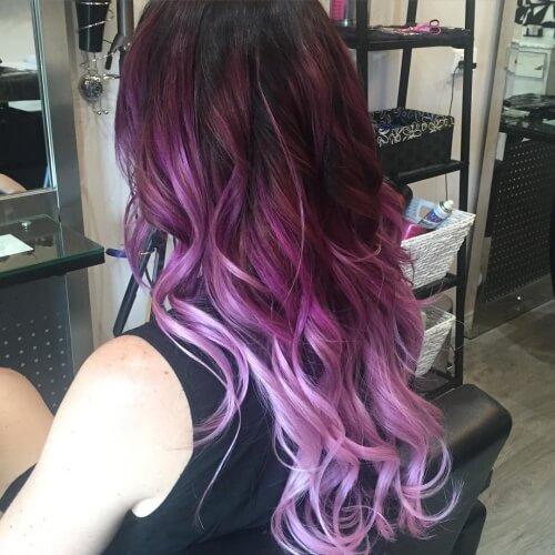 Plum to White Hair