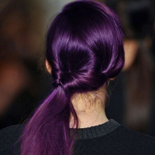 Rich Plum Hair Color