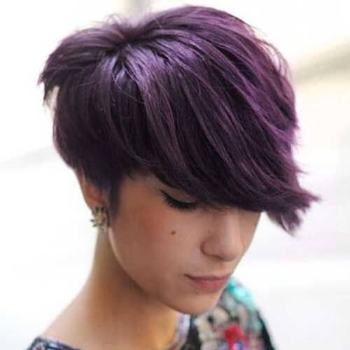 Thick Purple Hairstyle
