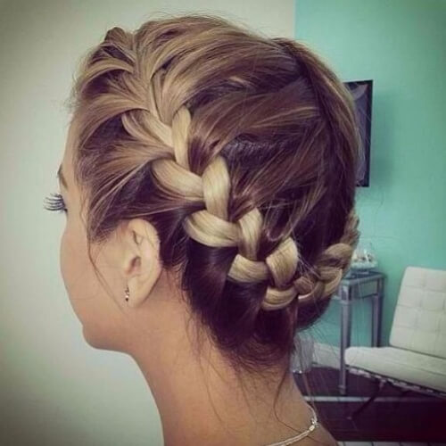Two Tone Braided Crown