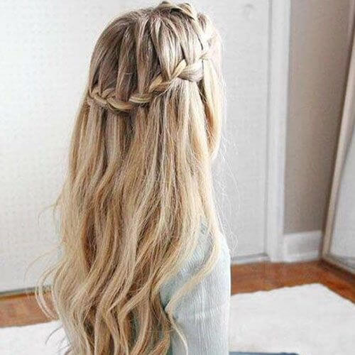 Waterfall Braid Crown
