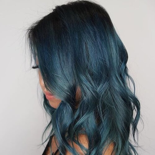 Ash Teal Hair Color