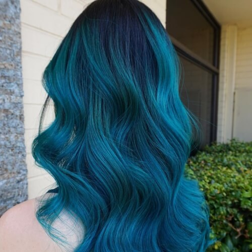 Blue Tinted Teal Hair