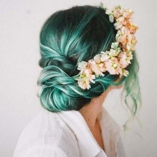 Boho Teal Hairstyles
