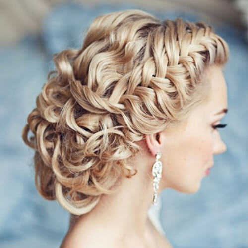 Braided and Curly Hairstyles