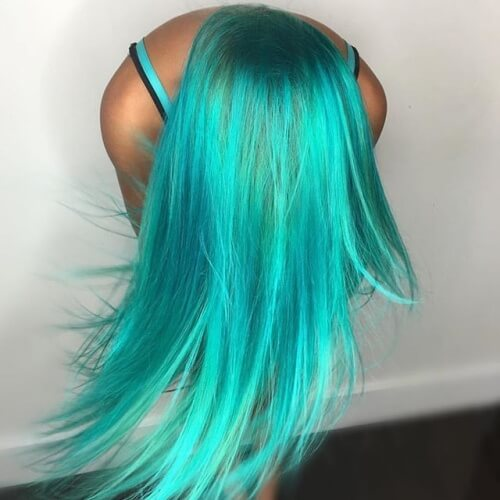 Bright Teal Hair Color