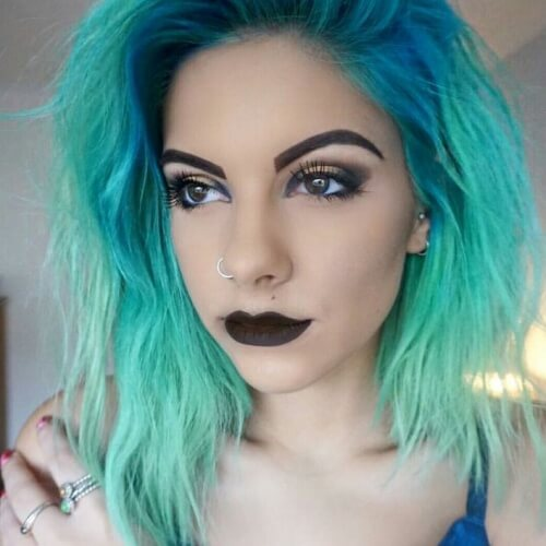 Dark to Light Teal Hair Color