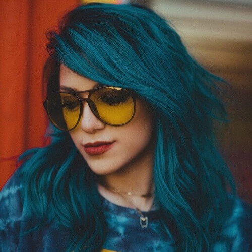 Deep Teal Hair Color