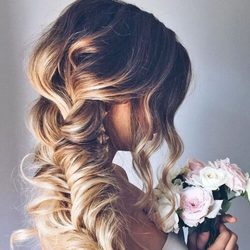 Fishtail Braid Wedding Hairstyles for Long Hair