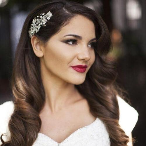 Hairpin Wedding Hairstyles for Long Hair