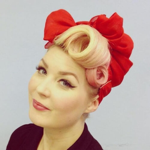 hair pin up styles 50 pin up hairstyles for retro glam hair motive hair motive 7024 | Headscarf Hairstyles