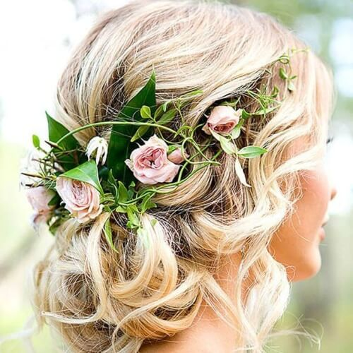 Nature Inspired Wedding Hairstyles for Long Hair