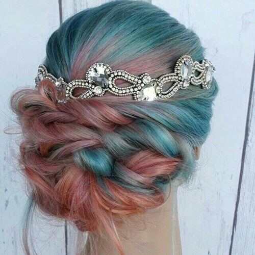 Peach and Teal Ombre