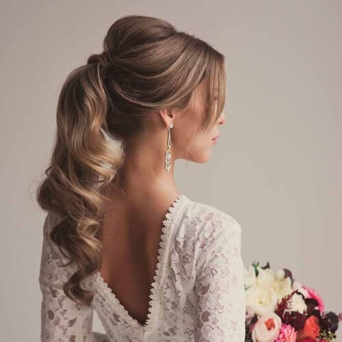 Ponytail Wedding Hairstyles for Long Hair