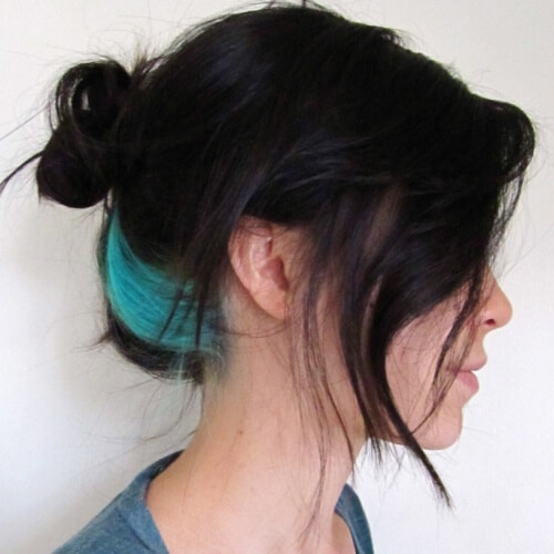 Splash of Teal Hair Color