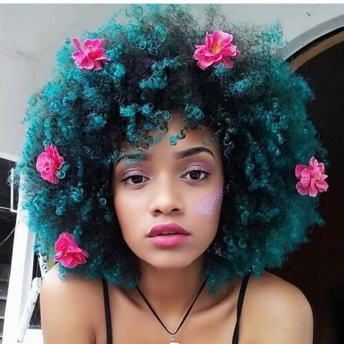 Teal Afro