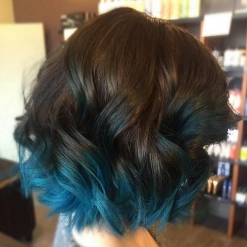Teal Hair Color Tips