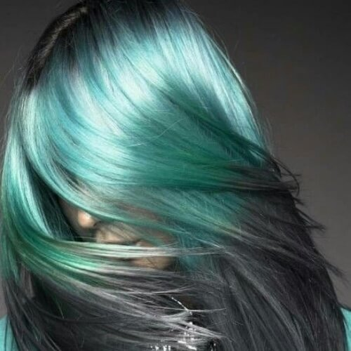 Teal and Grey Ombre