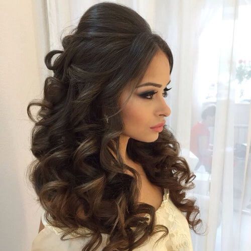 Voluminous Wedding Hairstyles for Long Hair