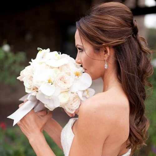 Wedding Hairstyles For Long Hair Half Up