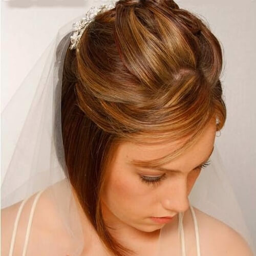 Asymmetrical Wedding Hairstyles for Short Hair