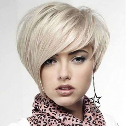 Asymmetrical Wedge Hairstyle