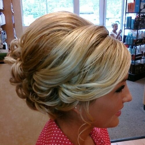 Bouffant Wedding Hairstyles for Short Hair