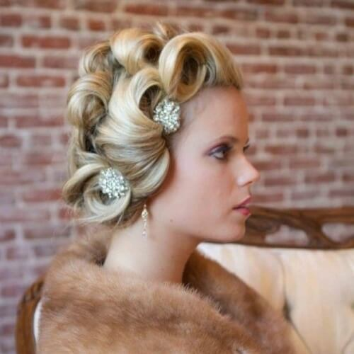Bridal Hairstyles with Large Curls