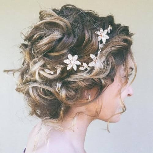Complex Prom Hairstyle for Short Hair