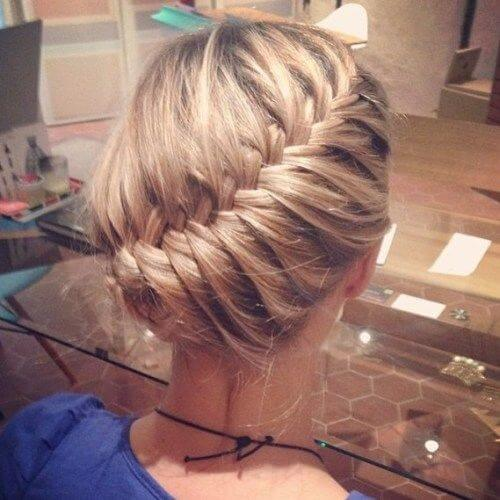 Diagonal Braid Hairstyles