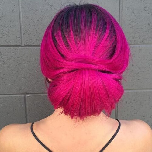 Electric Magenta Hair Color
