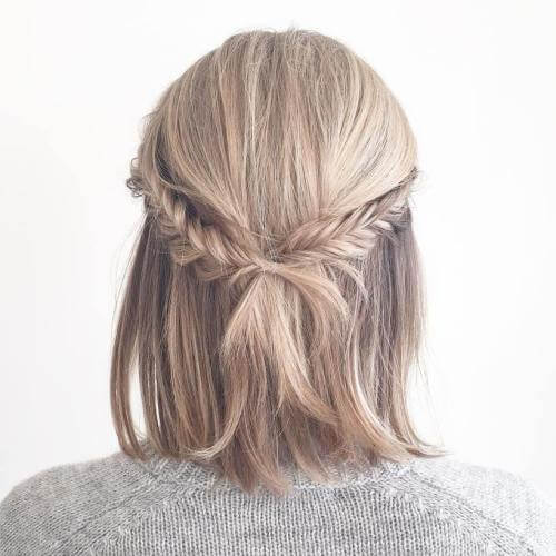 Fishtail Braid Prom Hairstyles for Short Hair