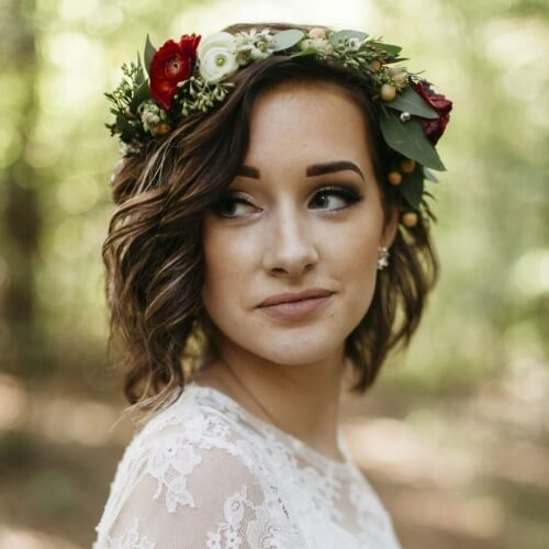 Flower Crown Wedding Hairstyles