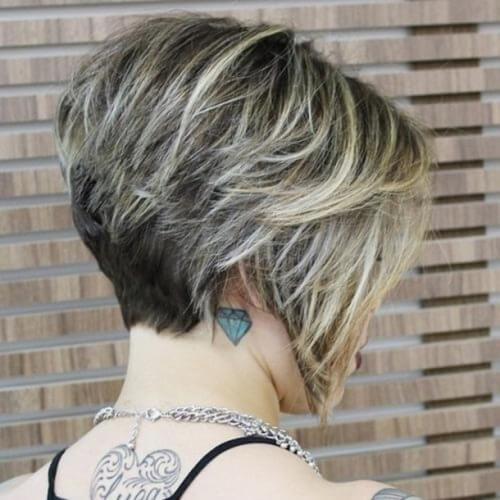 Highlights Wedge Hairstyle
