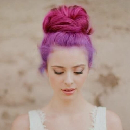 Lavender and Magenta Hair