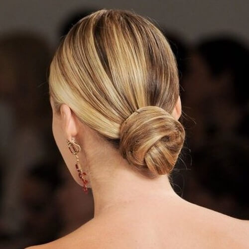 Low Bun Prom Hairstyles for Short Hair