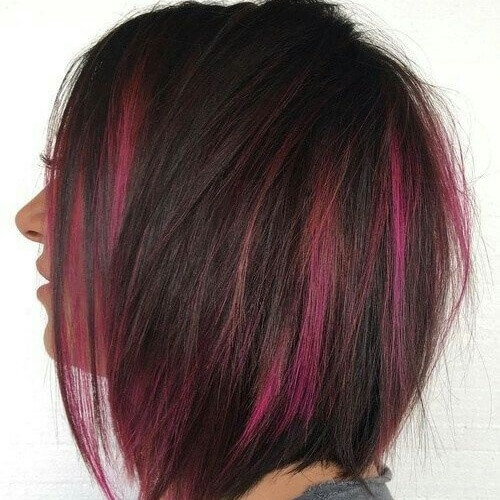 Magenta Hair Color Highlights
