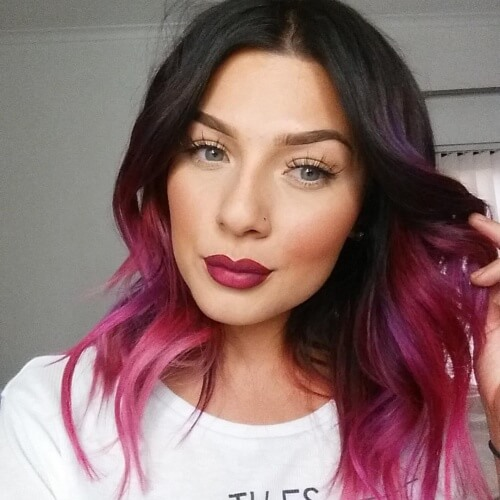 Magenta Hair Color Ombre