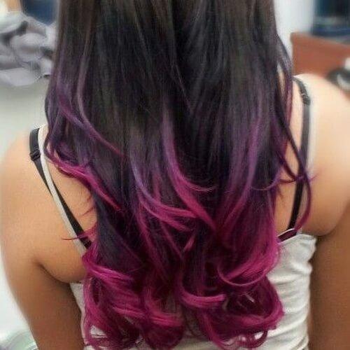 Magenta Hair Tips