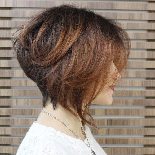 Messy Wedge Haircut