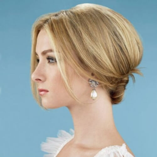 Middle Part Wedding Hairstyles
