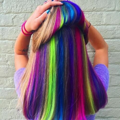 Neon Peekaboo Hair